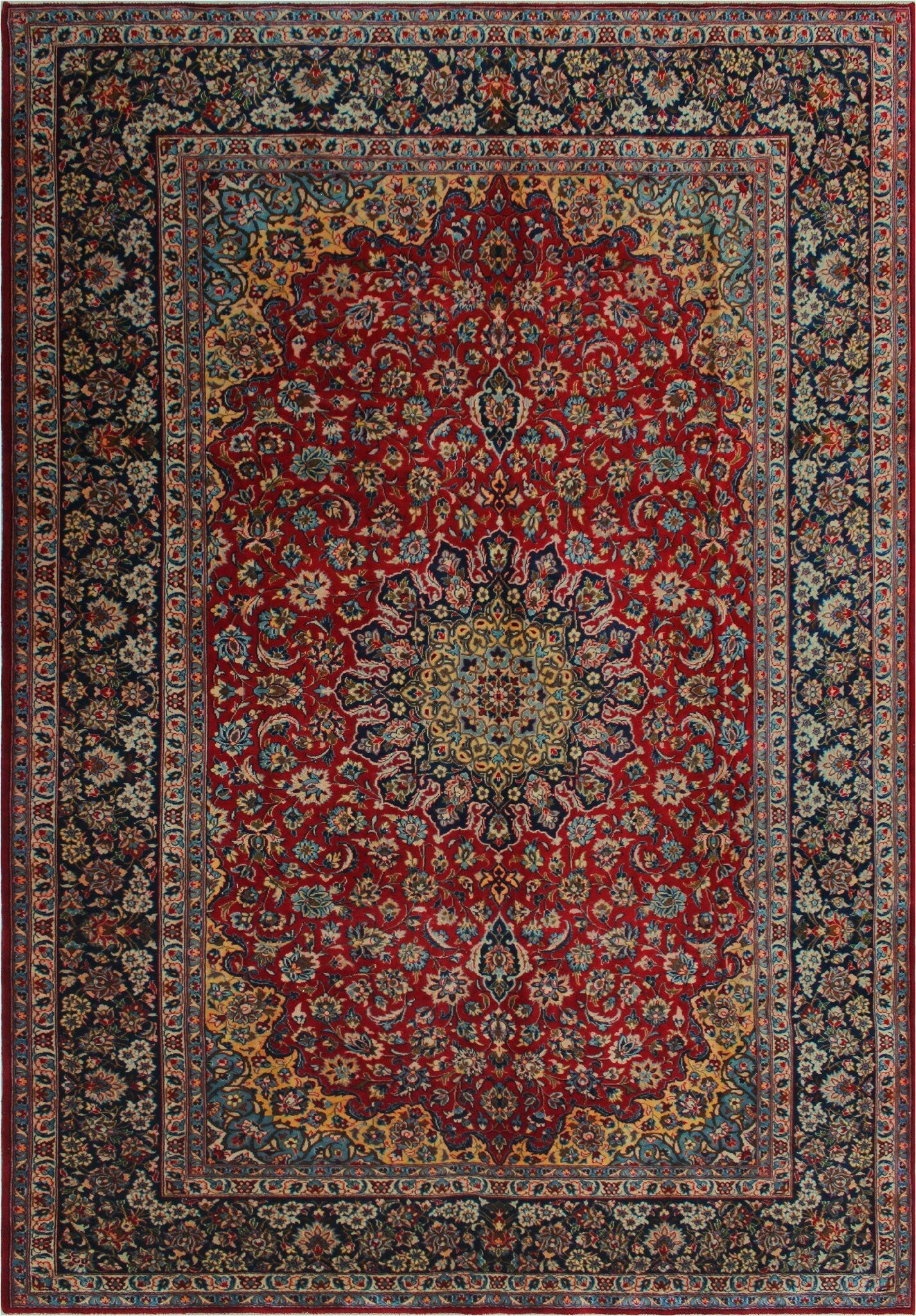 bloomsbury market one of a kind eitzen hand knotted traditional style redblue 97 x 135 wool area rug w