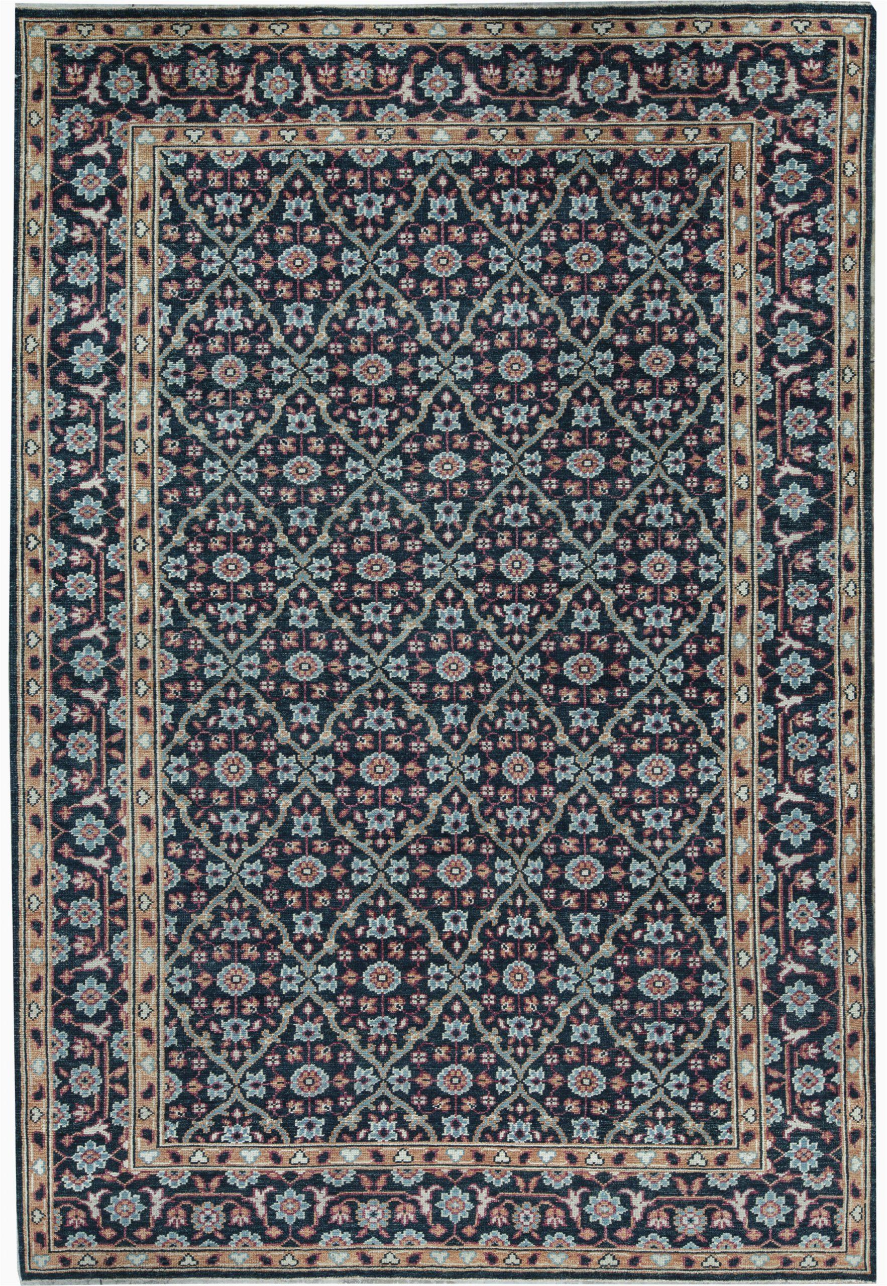 bokara rug co inc one of a kind soho hand knotted navy 97 x 1310 area rug abhd5555