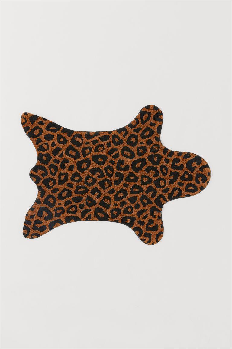 Animal Print Bath Rugs Animal Shaped Mat Brown Leopard Print Home All