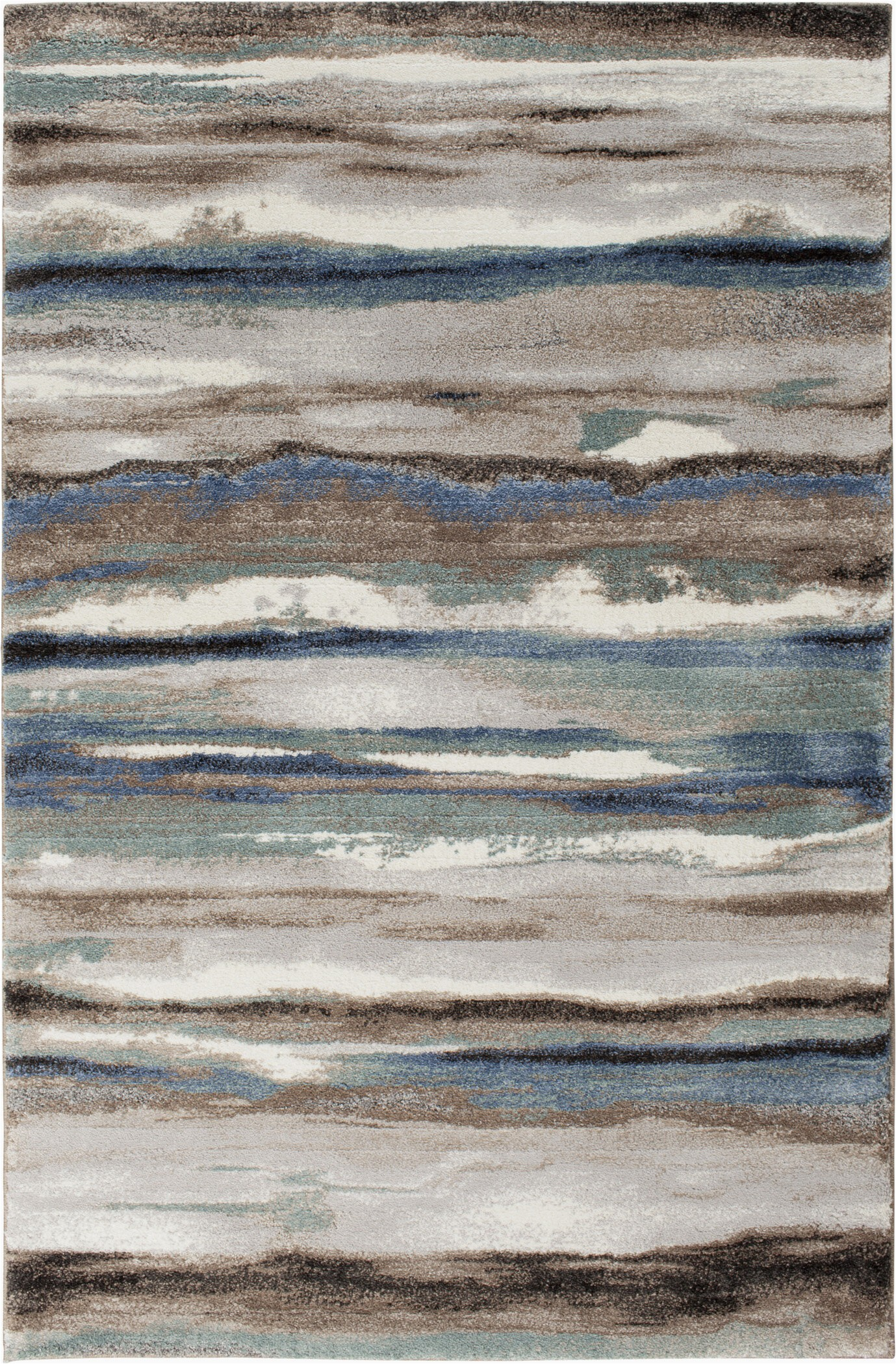 jayesh abstract bluebrown area rug