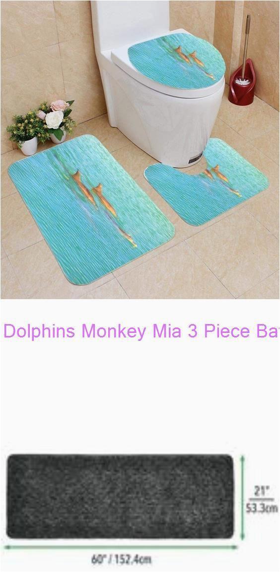 Bath Rugs 60 Long Dolphins Monkey Mia 3 Piece Bathroom Rugs Set Bath Rug