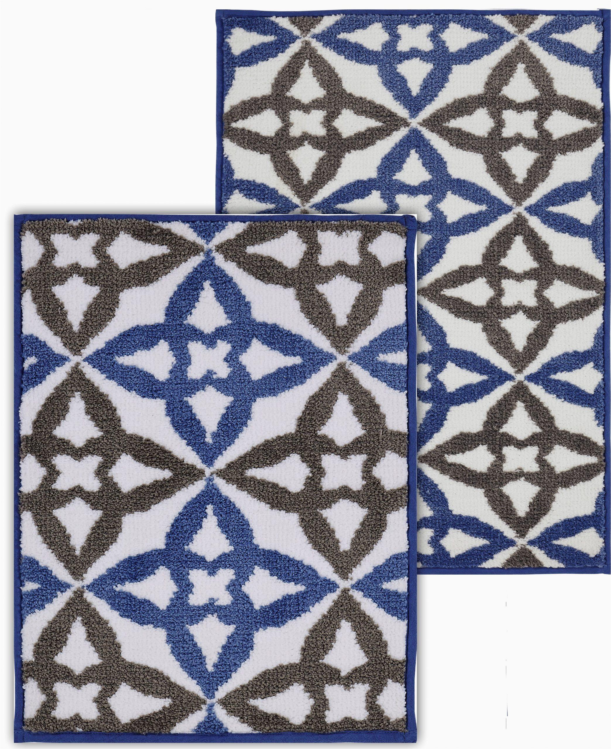 darby home co sandler rectangle non slip floral 2 piece bath rug set w