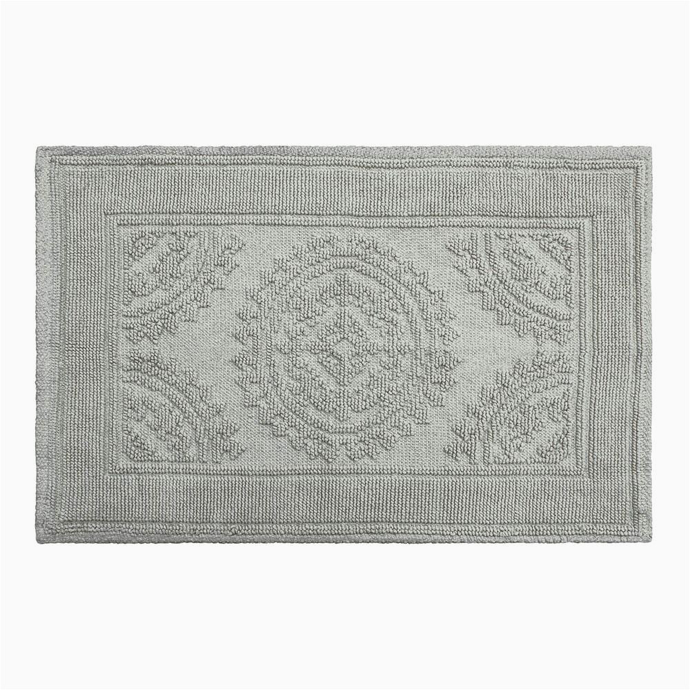 Blue and Gray Bathroom Rugs Jean Pierre Cotton Stonewash Medallion 17 In X 24 In