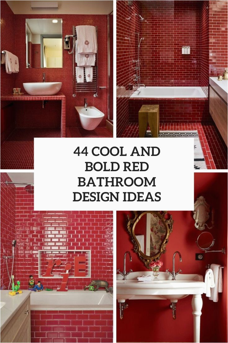 44 cool and bold red bathroom design ideas cover
