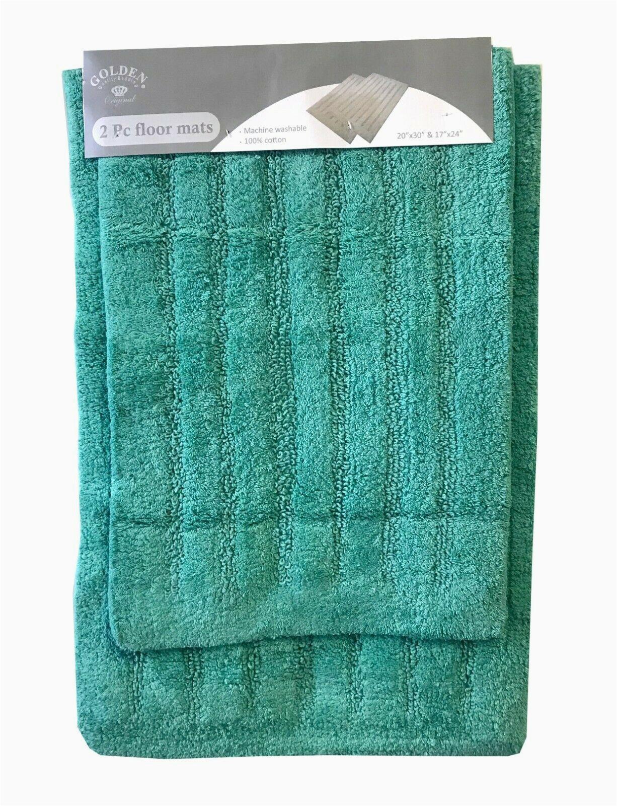 Cotton Bathroom Rug Sets 2 Piece Cotton Bath Rug Set Bathroom Mat Ultra Absorbent Machine Washable