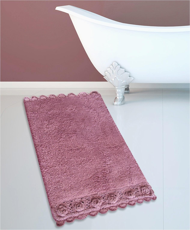 Dusty Rose Bathroom Rugs Cotton Bath Rug 270 Lace Dusty Rose