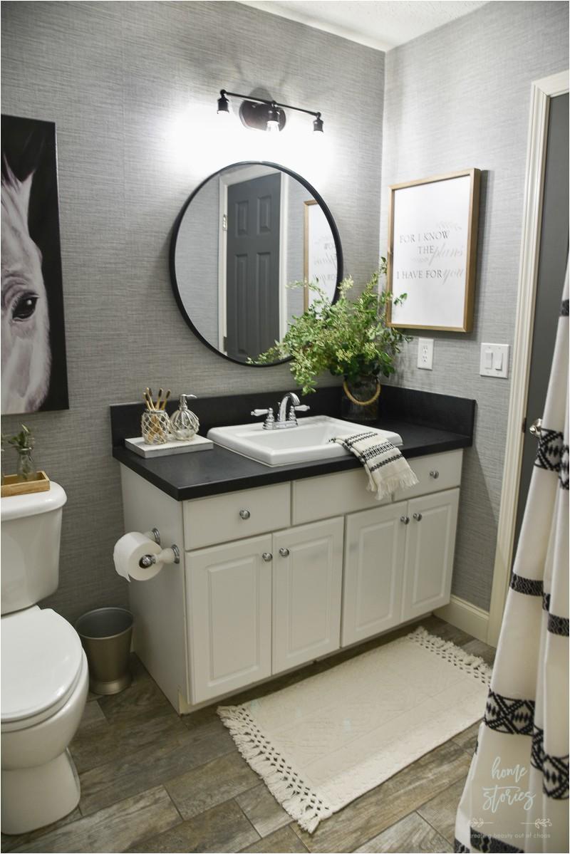 boho farmhouse bathroom 8