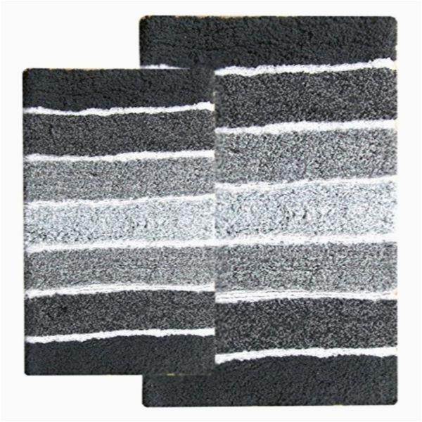 Grey and Black Bathroom Rugs Shop Cordural Mixed Black and Grey 2 Piece Bath Rug Set