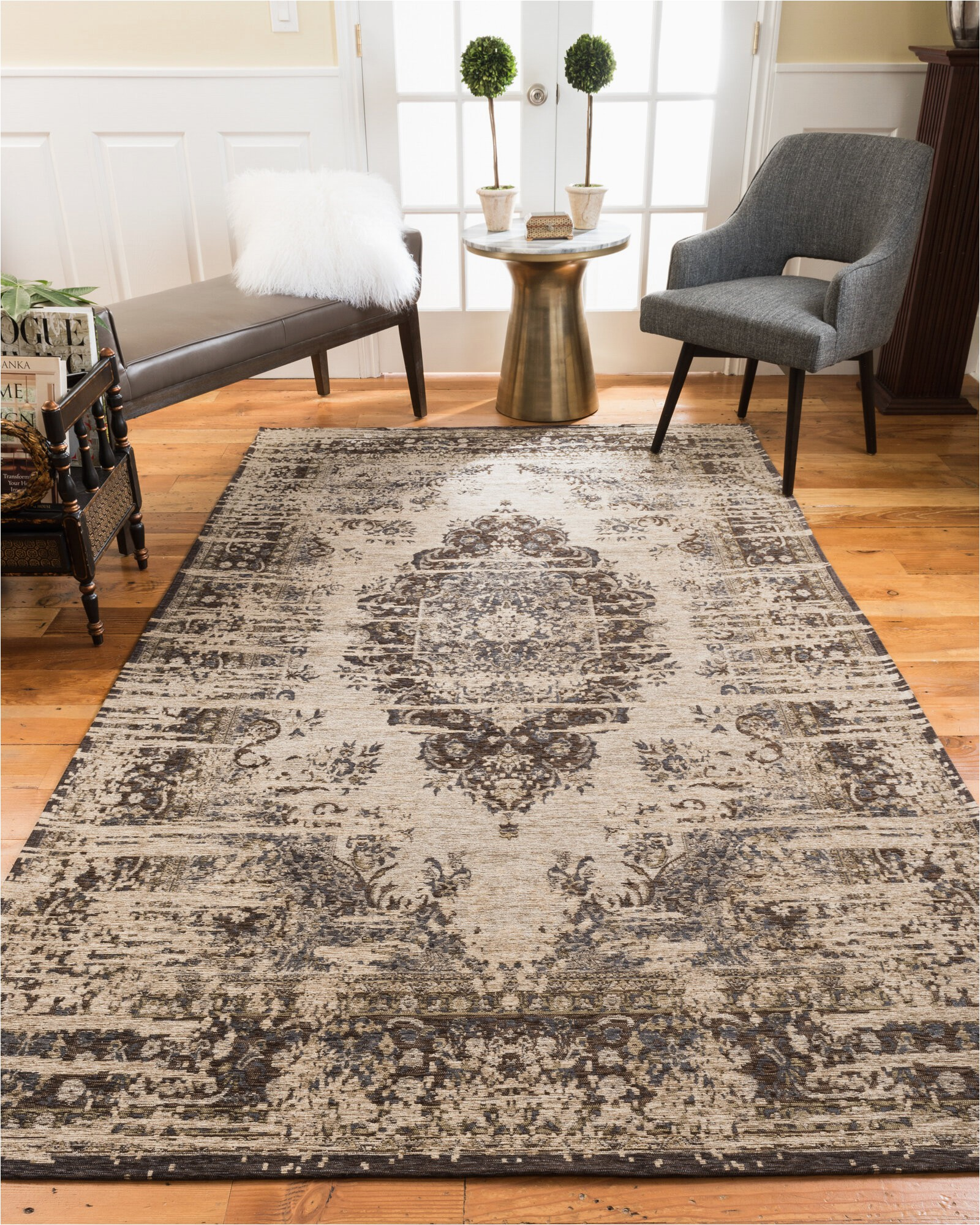 charlton home hartle brown area rug w piid=