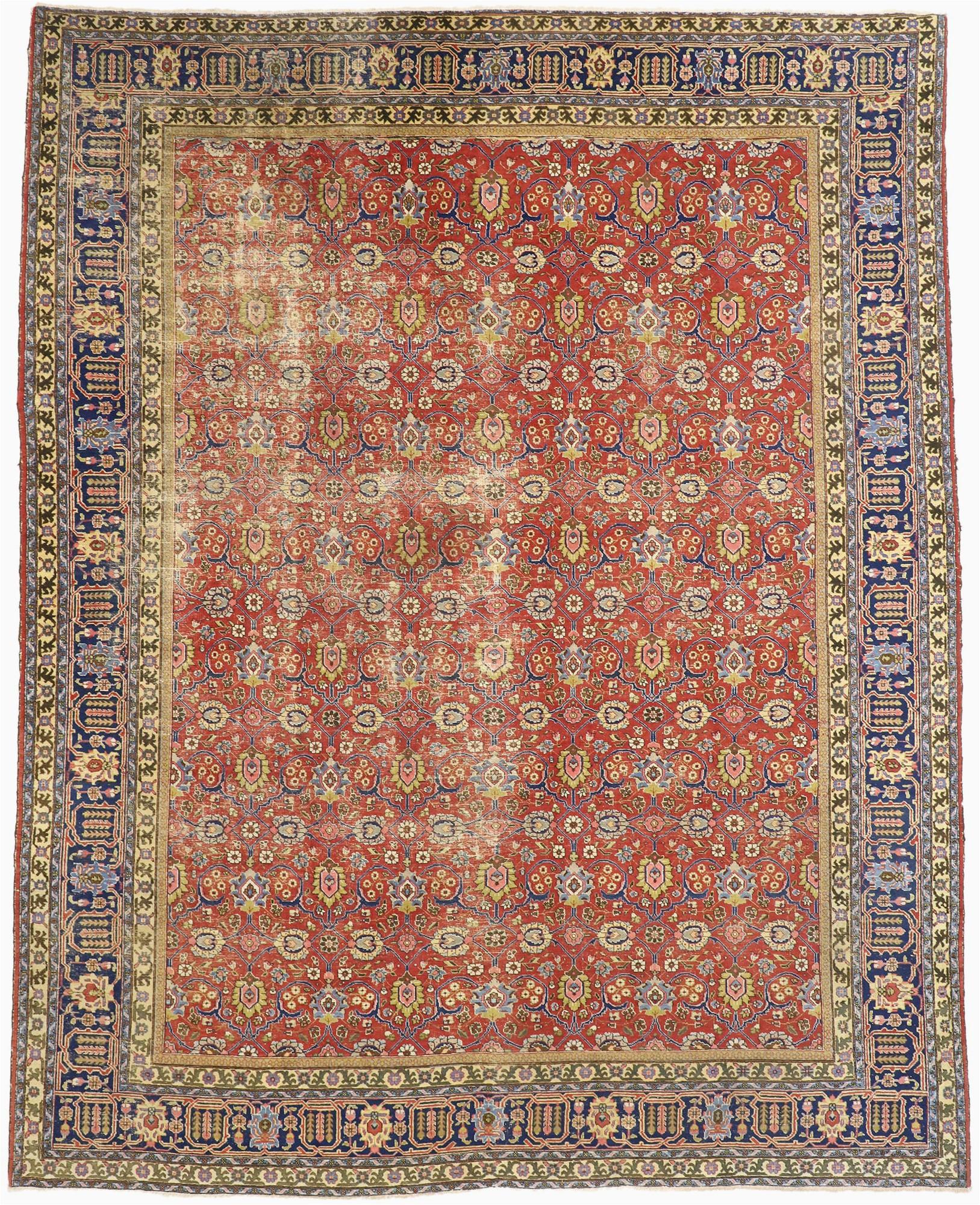12 x 15 antique tabriz rug