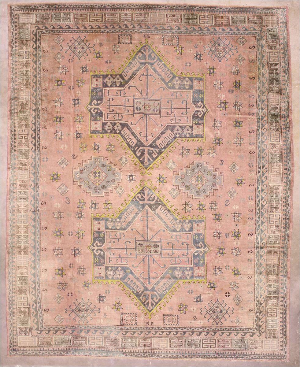 12x15 pink vintage oushak area rug