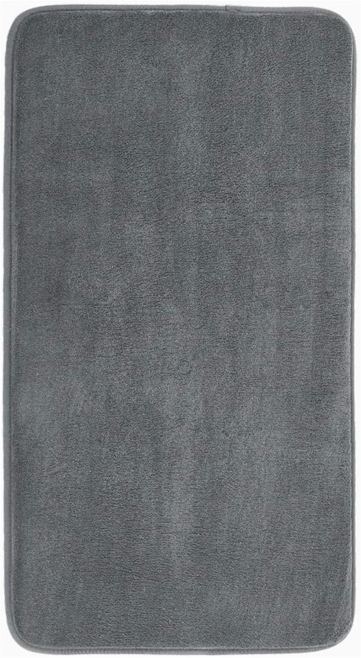 Large Memory Foam Bath Rug Mayshine Memory Foam Bathroom Rugs Non Slip Water Absorbent Luxury soft Bath Mat 34×19 Inches Charcoal Gray