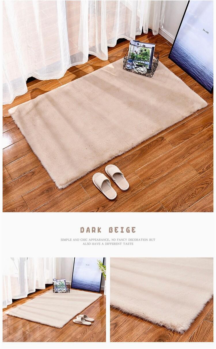 Size Square Carpet Bedroom Living Room Decor Floor Mat fortable Plush Non slip Doormat Water