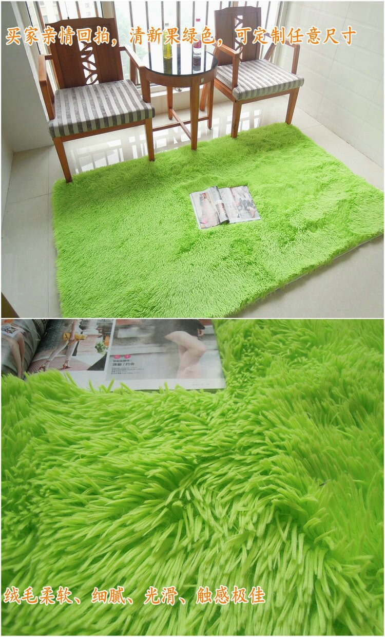 Light Green Army Green 160x230cm Anti slip Soft Fluffy Shaggy Home Area Rug Dining room Carpet