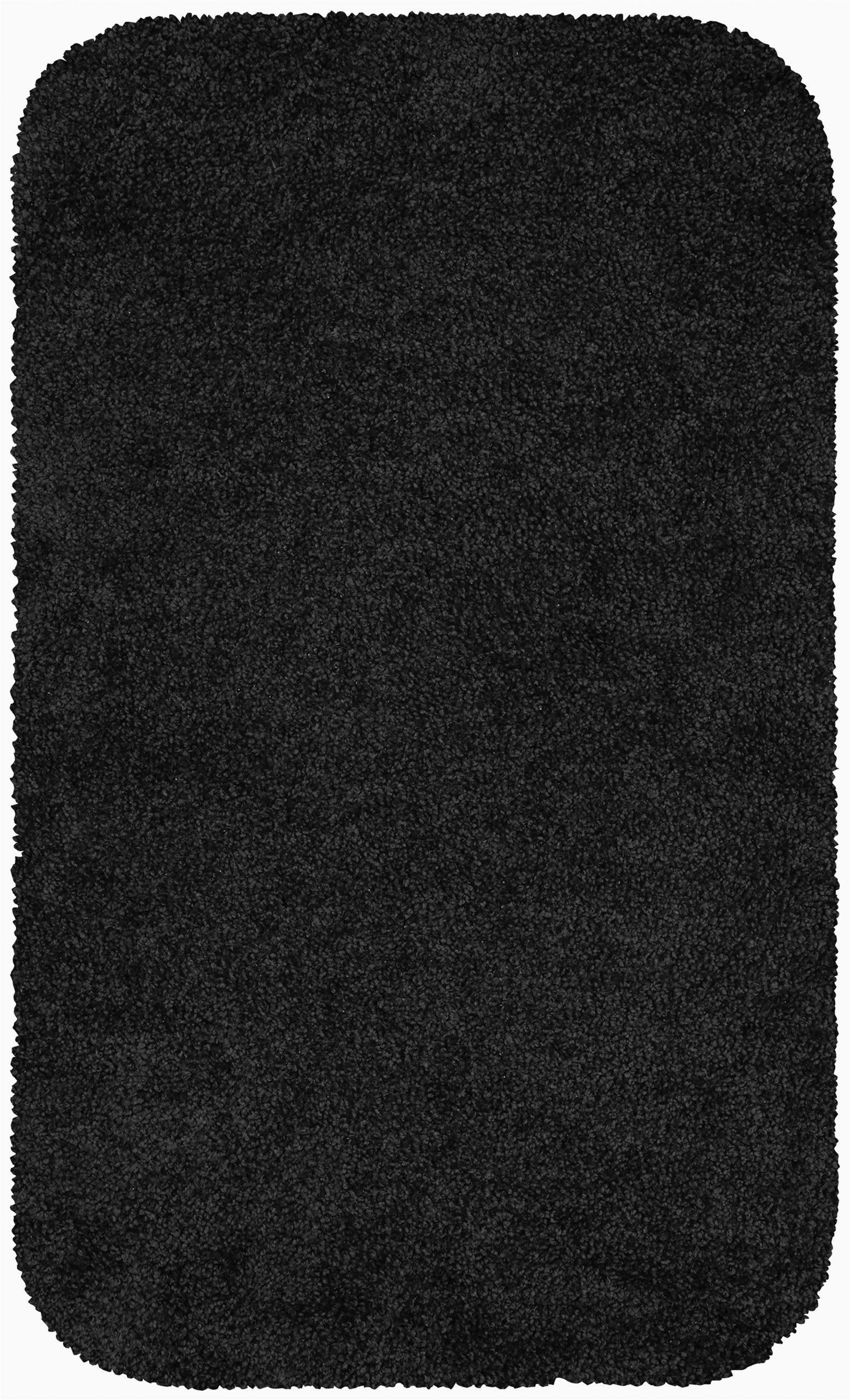 """Long Black Bathroom Rug Mainstays Basic Bath Rug Rich Black 23"""" X 38"""" Walmart"""