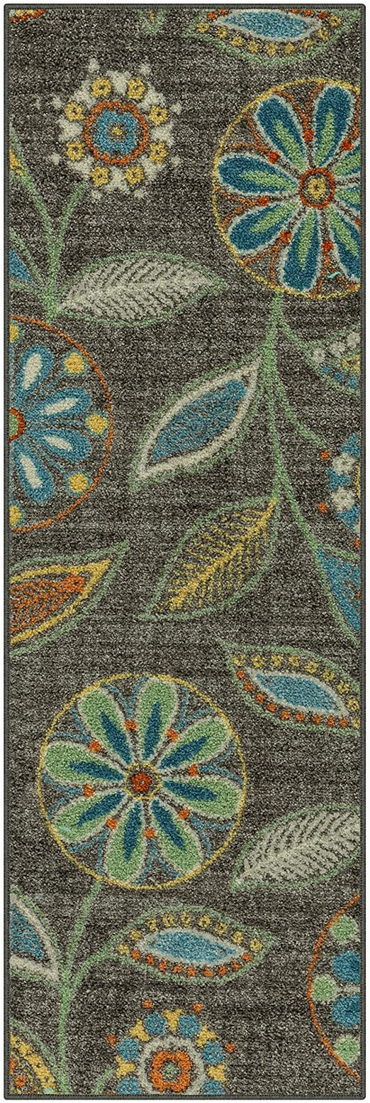 Maples Paisley Floral area Rug Maples Rugs Reggie Floral Runner Rug Non Slip Hallway Entry Carpet [made In Usa] Multi 2 X 6