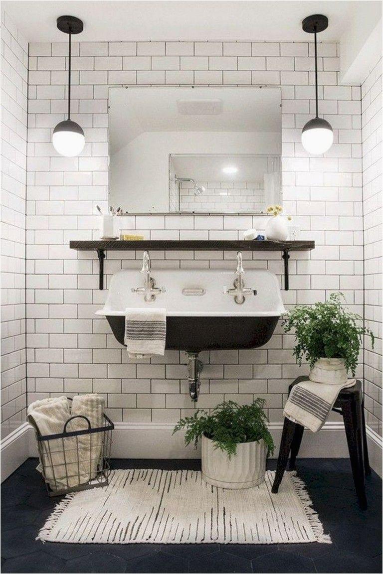 Modern Farmhouse Bathroom Rugs 40 Fy Farmhouse Bathroom Makeover Ideas Bathroomideas