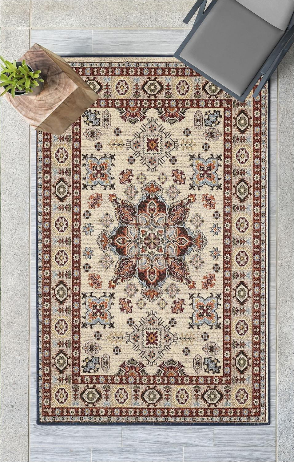 Else Brown Beige Vintage Authentic 3d Print Non Slip Microfiber Bohemian Turkish Anatolian Modern Washable Area