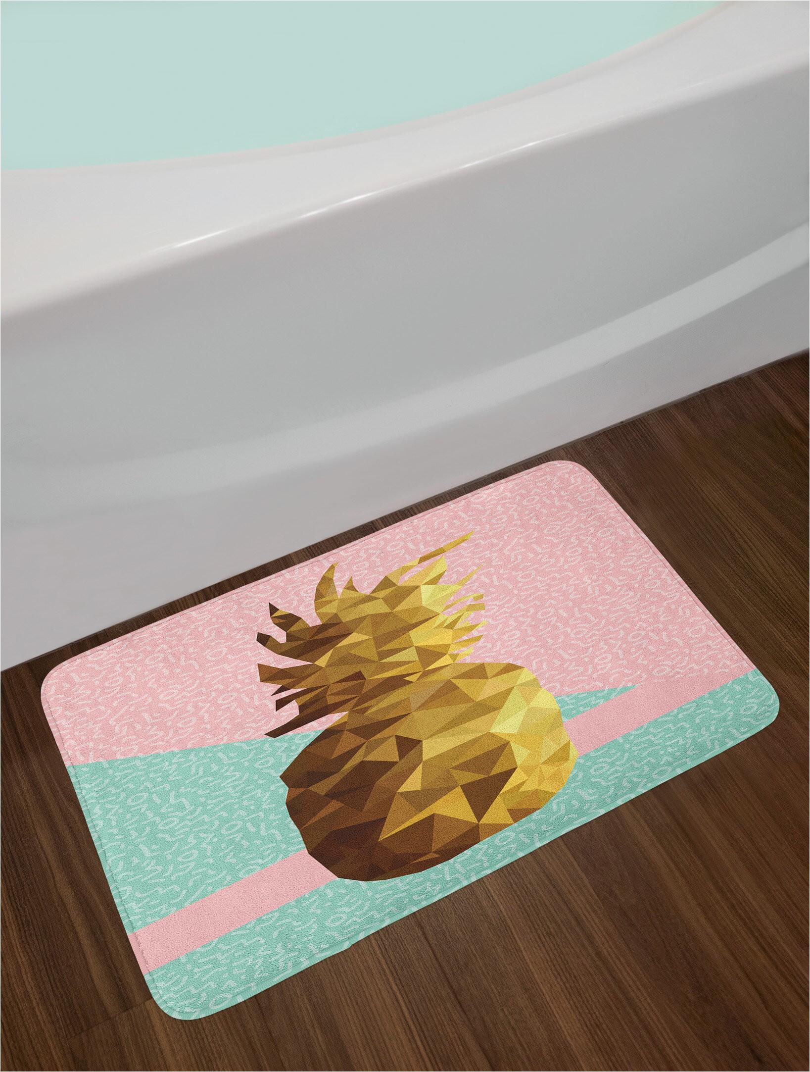 Pale Pink Bathroom Rugs Retro Pale Pink Mint Green Pale Brown In Bath Rug