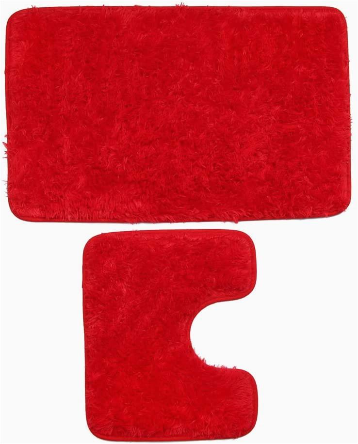 Plush Red Bathroom Rugs Amazon Bathroom Mats 2 Pcs Fashion Super Absorbent