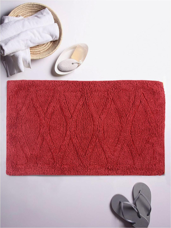 Romee Red Cotton Bath Mat 20 x 32 Set of 1 1