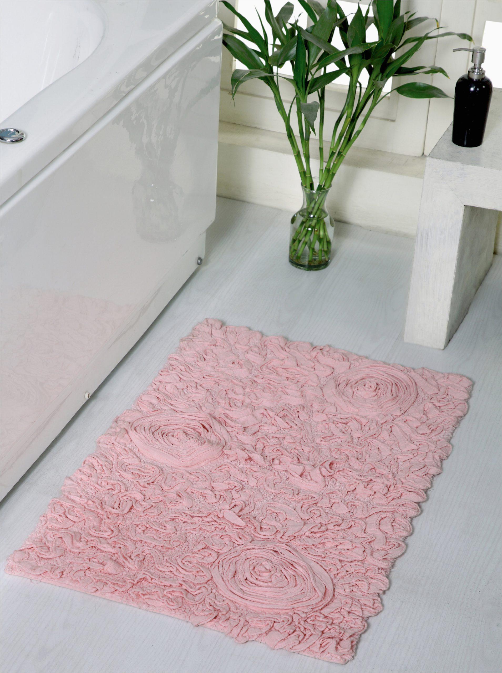 house of hampton pascoe rectangular 100 cotton non slip solid bath rug w piid= ,