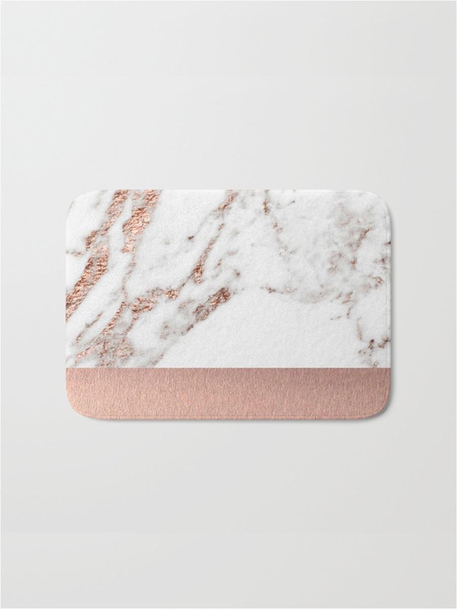 1pc rug marble geometric pattern rose gold bath mat practical anti slip flannel door mat g0xdx0 kj o gt v l y moo 73