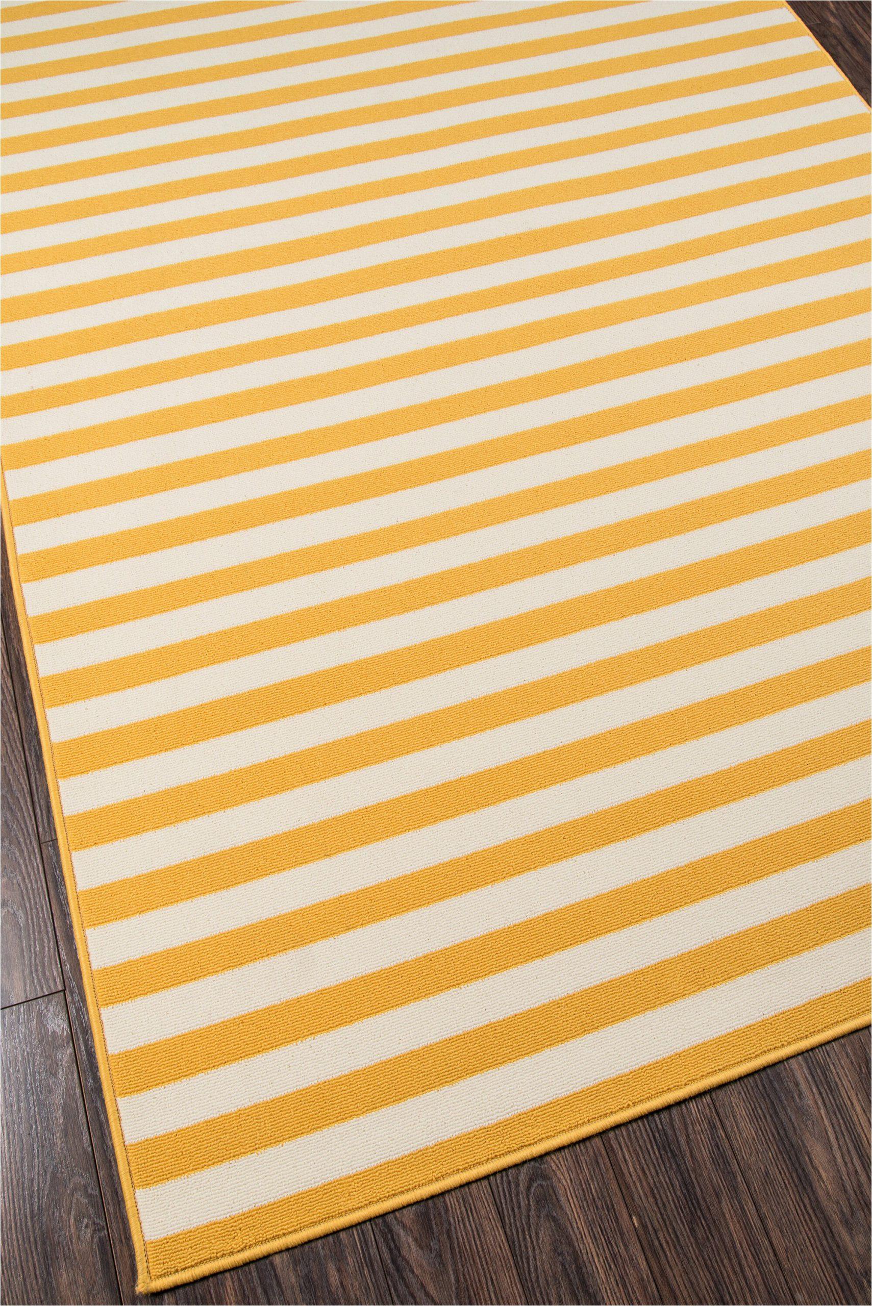 halliday striped yellowwhite indoor outdoor area rug