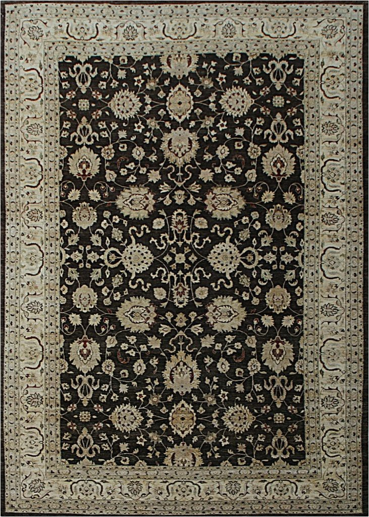 13x20 hand knotted oushak carpet traditional brown fine wool area rug d