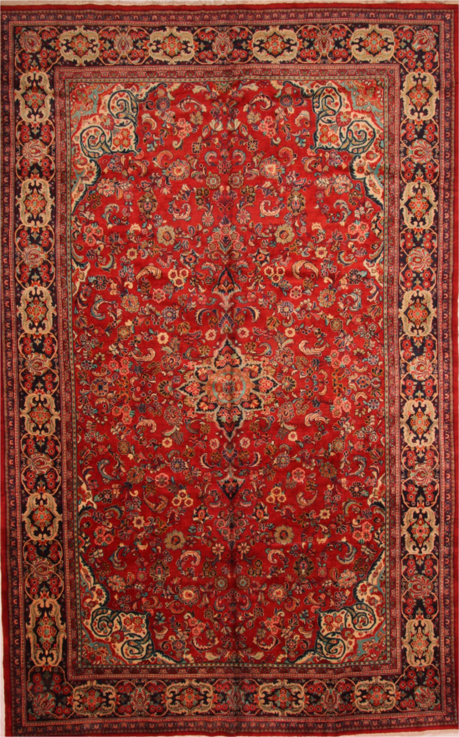 10x17 ft persian hand knotted raspberry red wool sku
