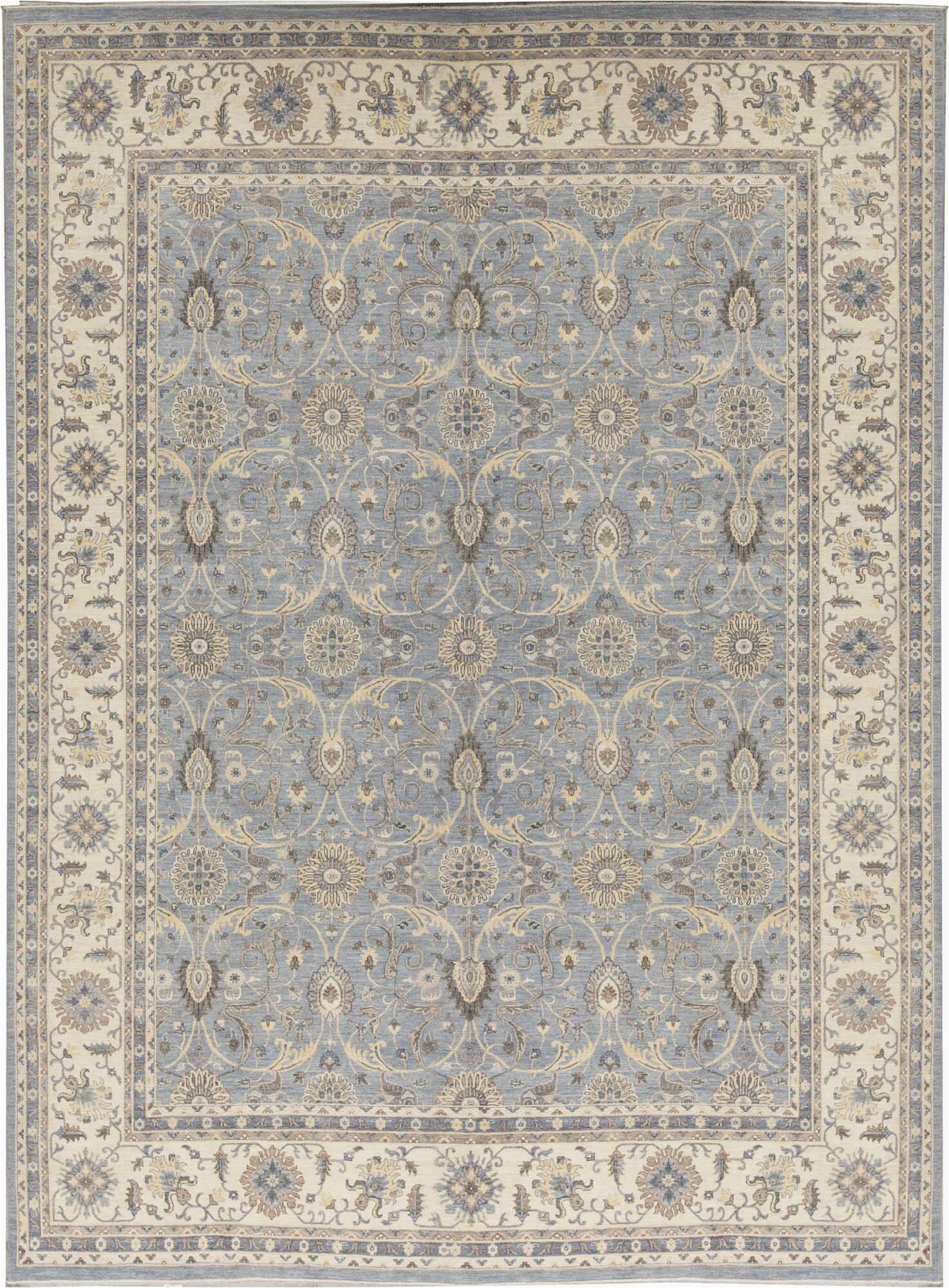 bokara rug co inc one of a kind oriental hand knotted 117 x 148 wool gray area rug abib8941