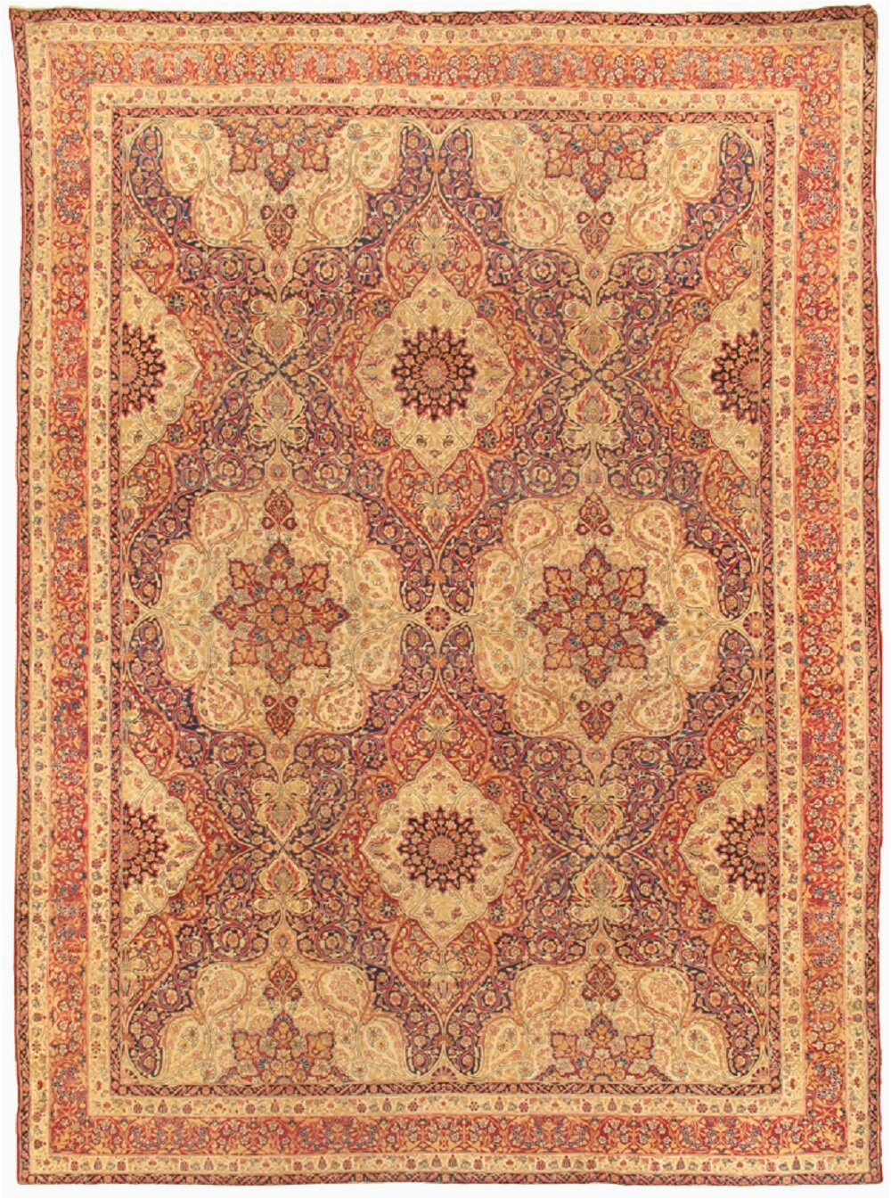 pasargad one of a kind kermanshah hand knotted 107 x 142 wool ivorypurple area rug obwh2179