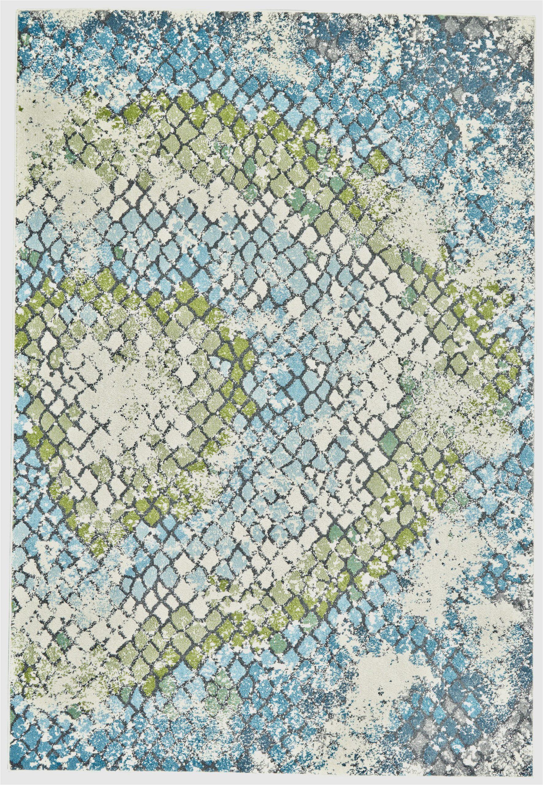 nordin abstract bluegreen area rug