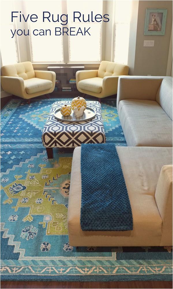 five rug rules you can break