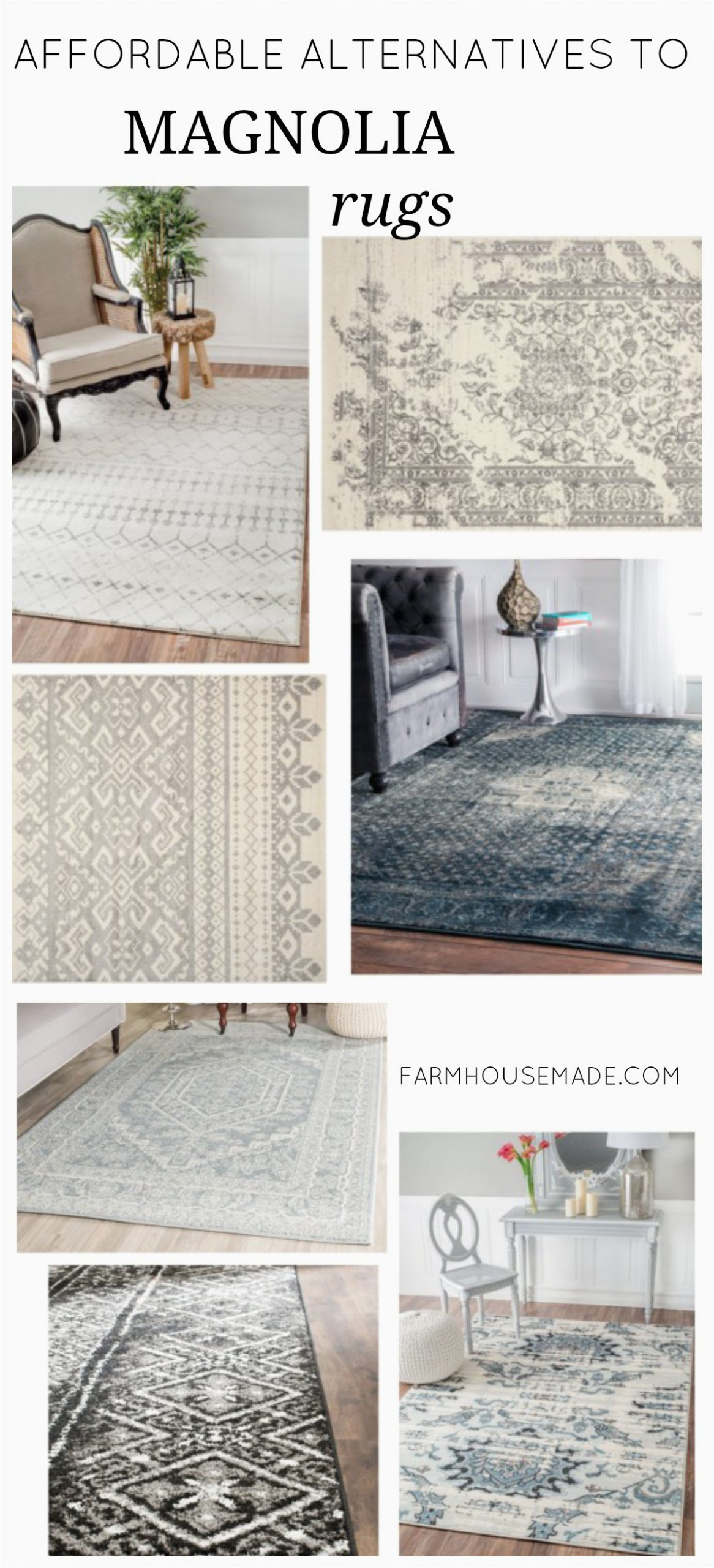 Magnolia Rug Alternatives Collage