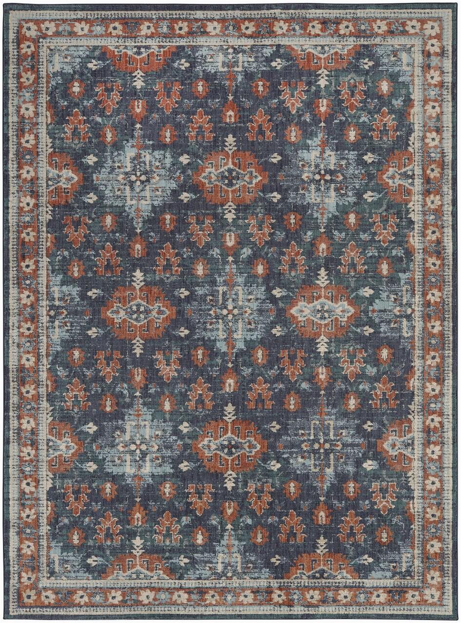 5 3 x 7 10 area rug indigo mallard green persian pattern traditional classic