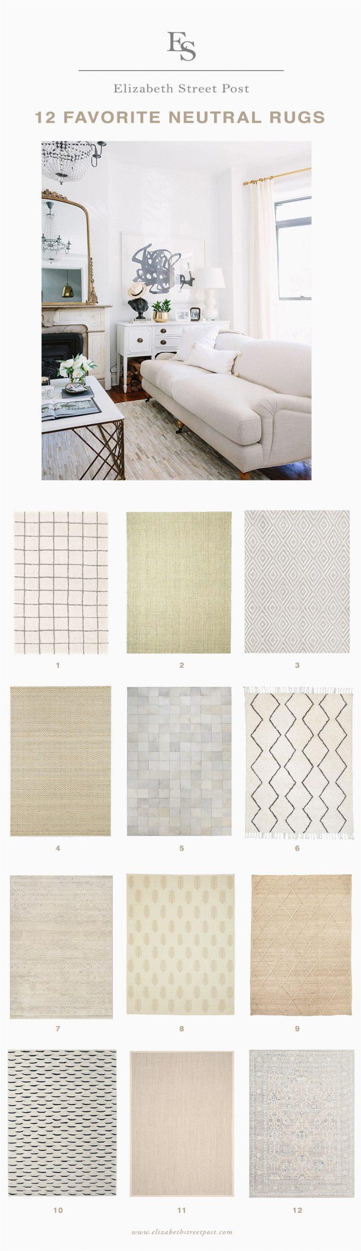 my 12 favorite neutral rugs