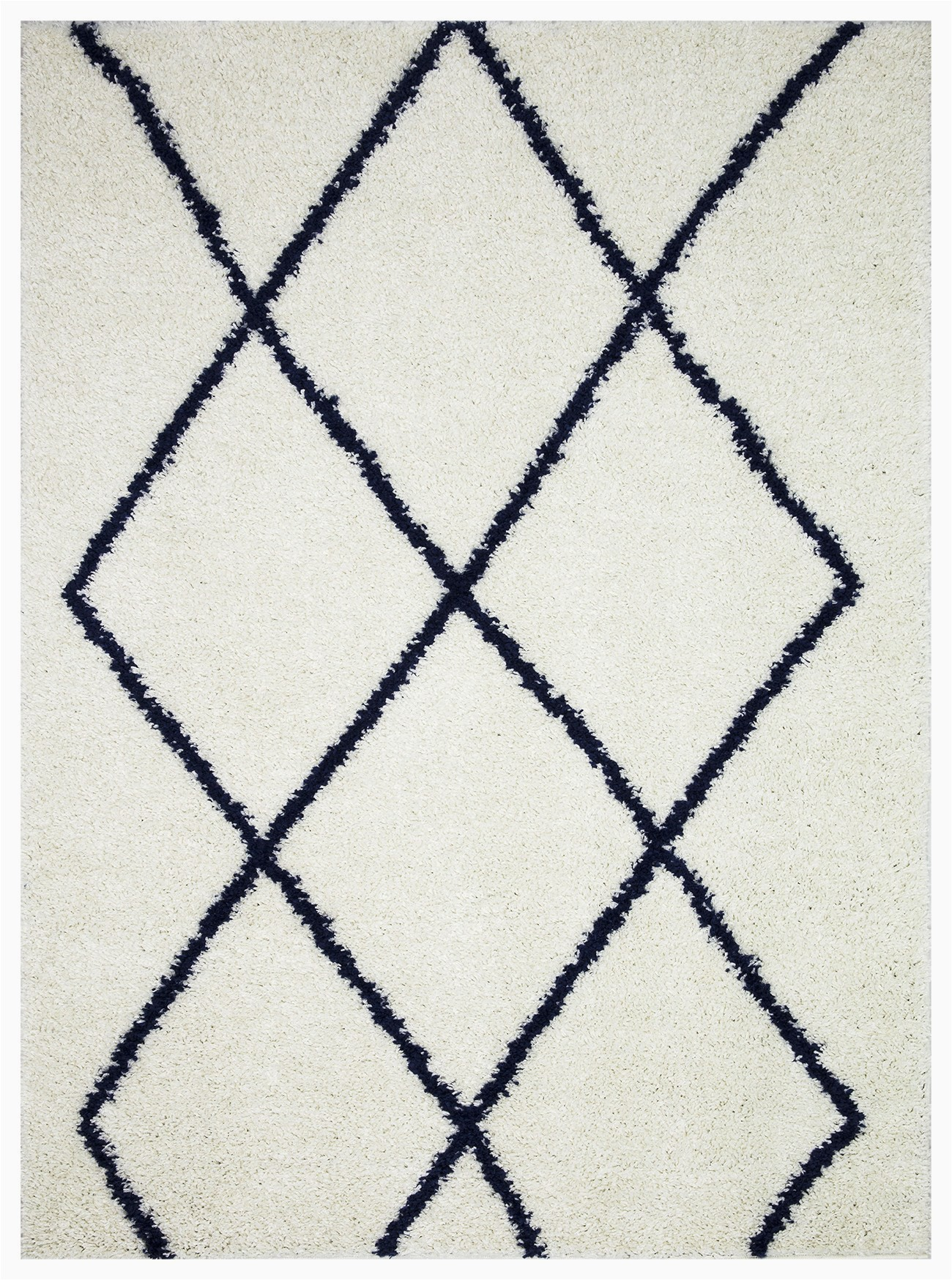 vienna collection modern geometric shaggy area rug g2927 white dark blue