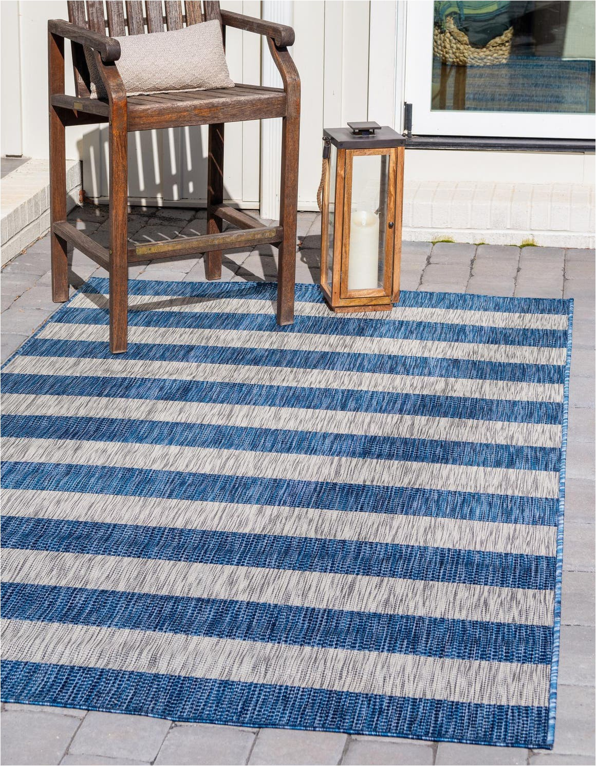 blue 9x12 outdoor striped area rug