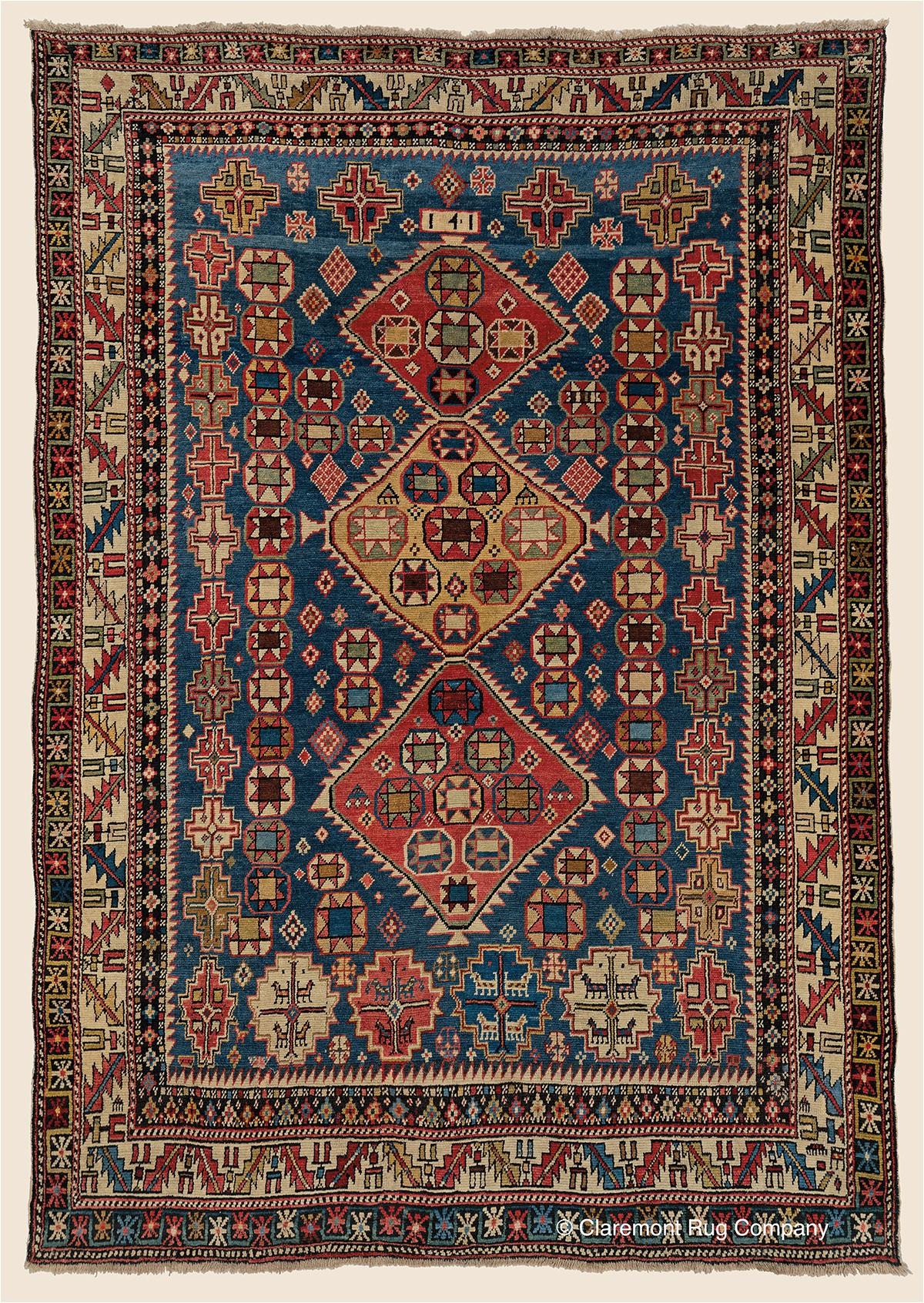 Antique Persian Rug Caucasian Gendje4 4x6 2 SGE5