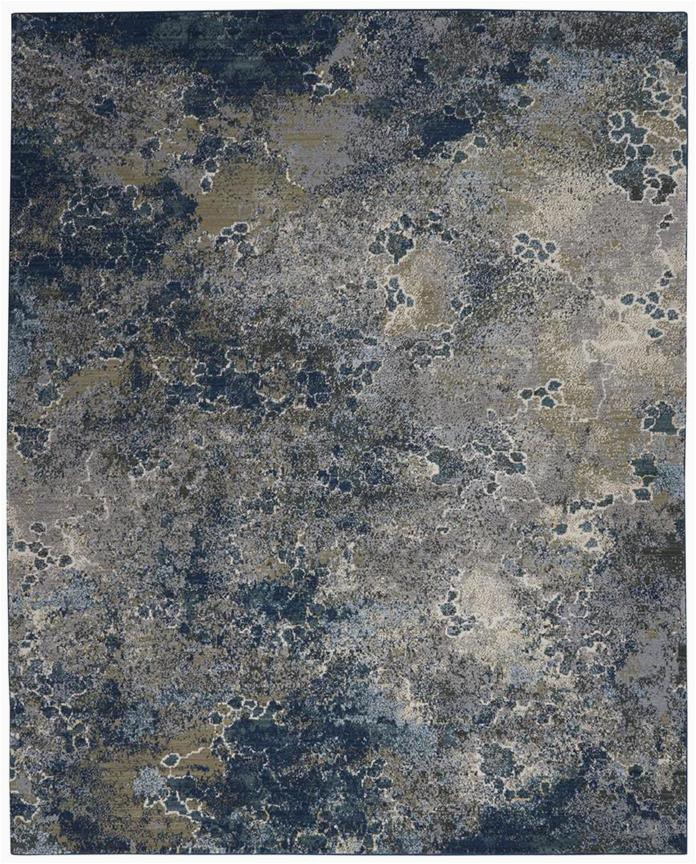 Nourison Artworks ATW02 BlueGrey Area Rug p