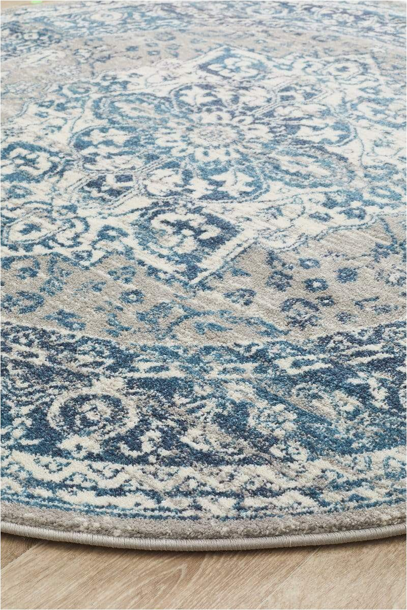 laurent blue grey round traditional medallion rug side 1024x