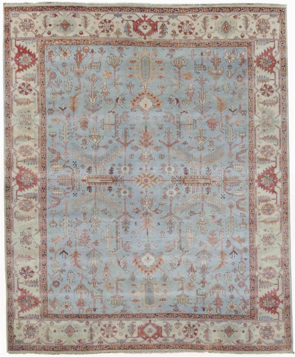 exquisite rugs serapi 3335 light blue ivory area rugx