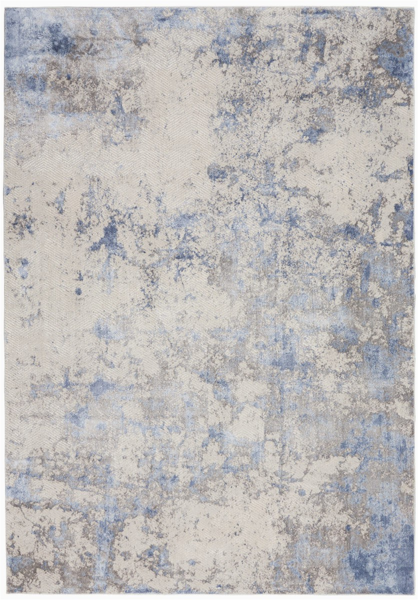 nourison silky textures sly04 blue ivory area rugx