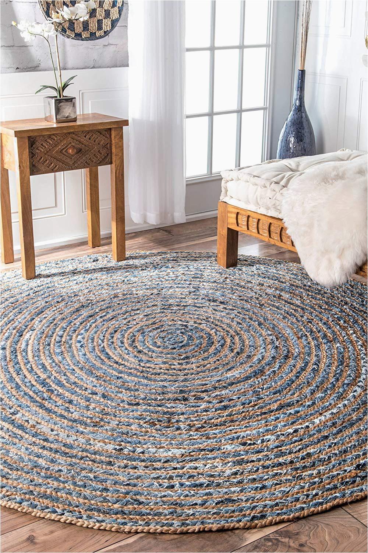 denim jeans with jute handmade braided rug blue denim area rugsavioni premium collection 122 cm round
