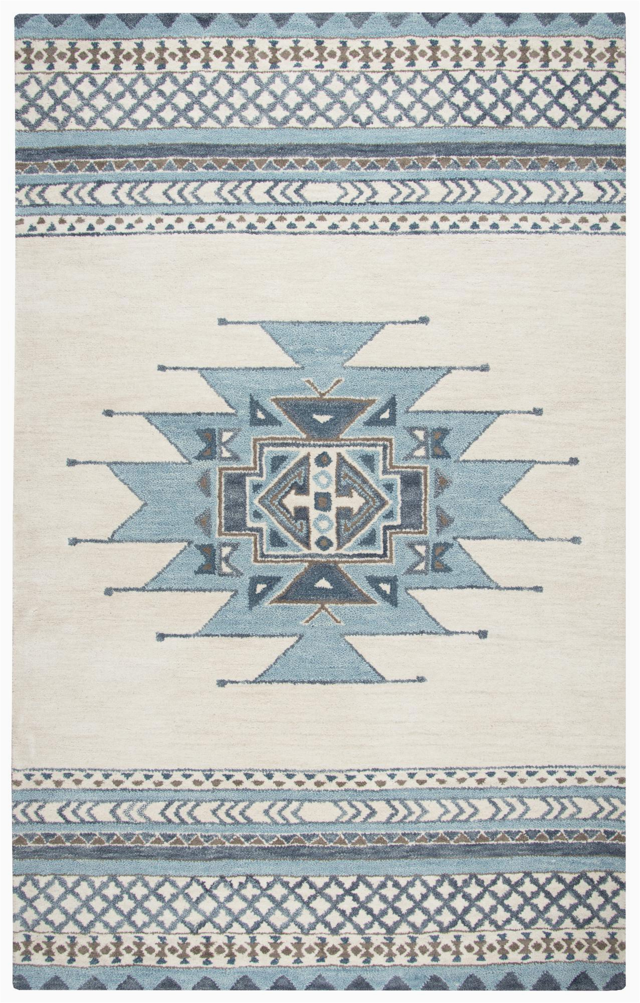 rizzy home 9 x 12 blue tribal area rugs sowsu567a