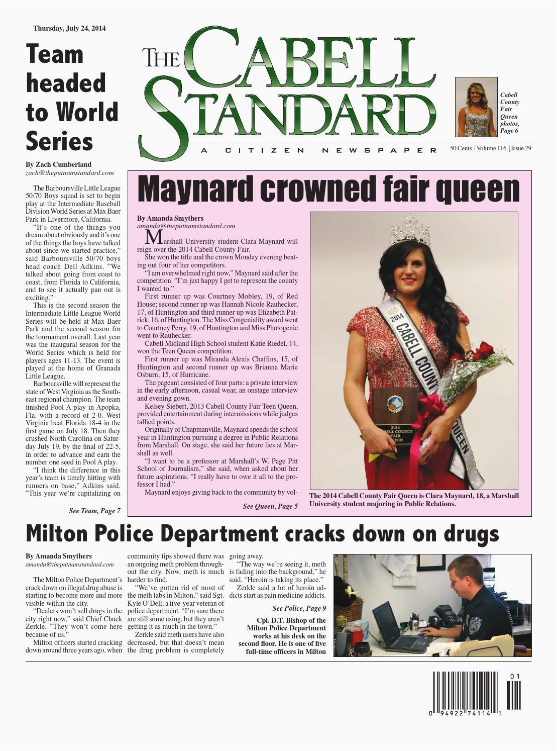 cabell standard july 24