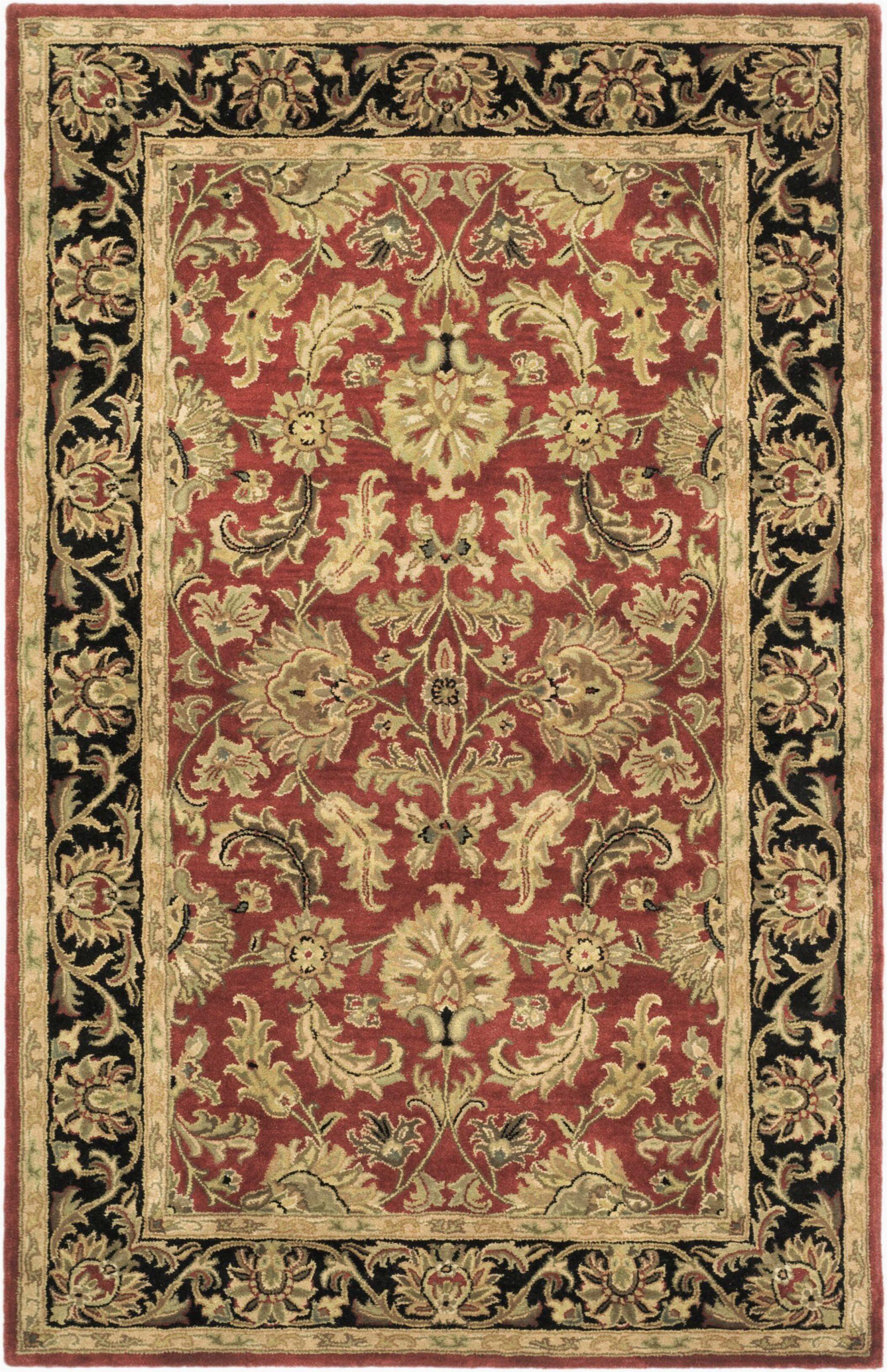 cranmore handmade tufted wool redblack rug