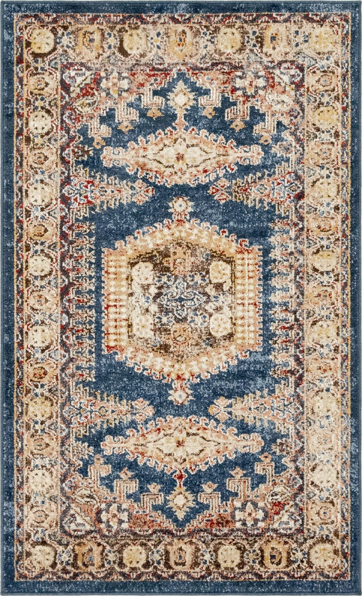 nathanson oriental power loom multicolor area rug