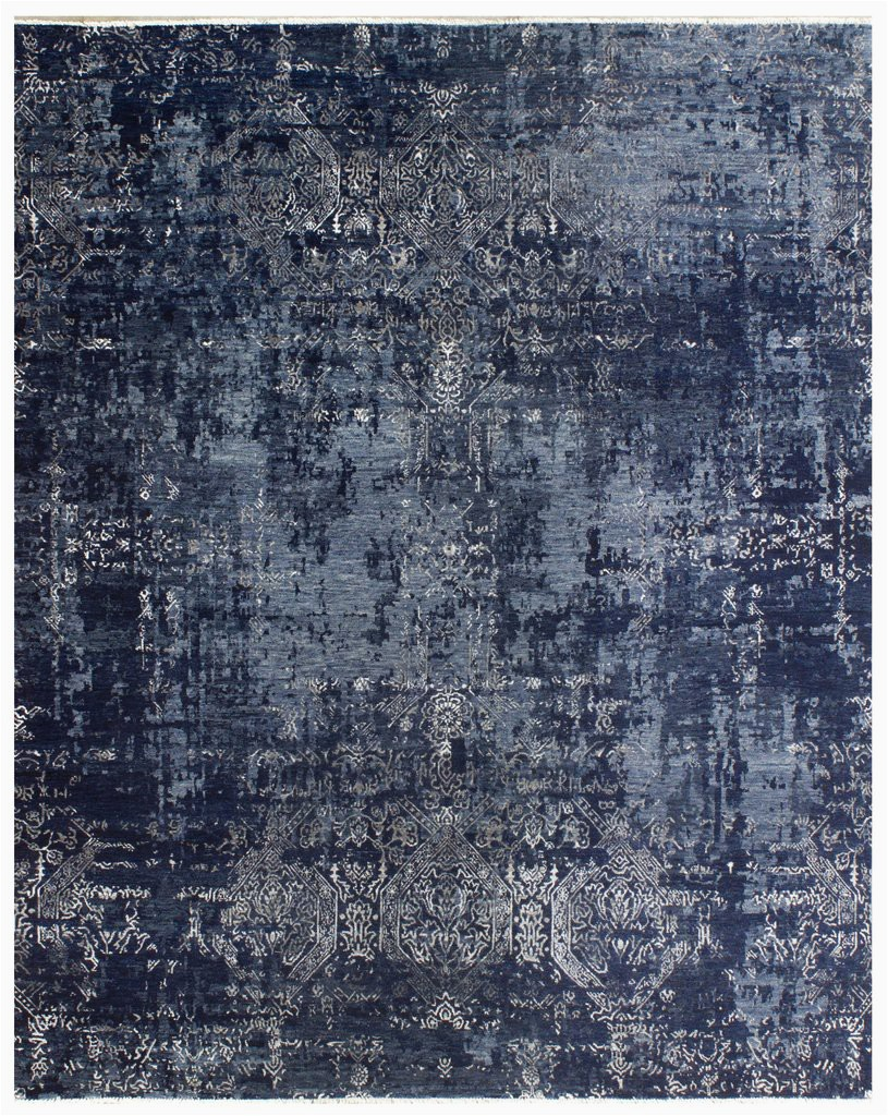 elite 1319 navy blue silver made to order rug